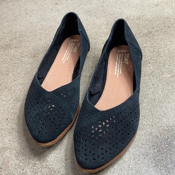 Toms Shoes   Jutti Black Suede Mosaic